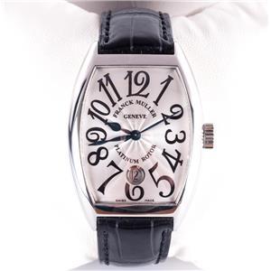 Frank Muller .950 Platinum Rotor Men's Wrist Watch W/ Original Leather Band