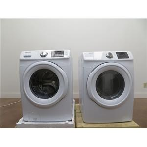 Samsung Electric WHT Front Load Washer & Dyer WF42H5000AW / DV42H5000EW Images