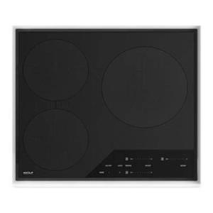 """NIB Wolf 24"""" Transitional Framed Cookware Sensing Induction Cooktop CI243TFS"""