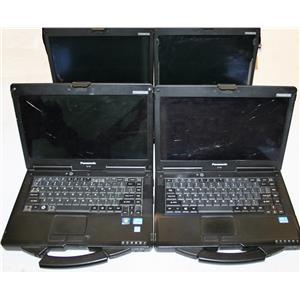 Lot 4 Panasonic Toughbook CF-53 Core i5 MK1 MK2 MK3 Cracked PowerON Rapair AS IS