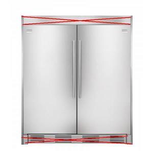 NIB Frigidaire Pro Refrigerator Freezer FPRU19F8RF/FPFU19F8RF TRIM NOT INCLUDED