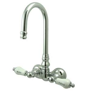 "Kingston Brass CC74T1Vintage 3 3/8"" Center Wall Mount Claw Foot Tub Filler Faucet - Polished Chrome"