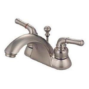 "Kingston Brass KB2628 Naples Dcor 4"" Centerset Bathroom Sink Faucet - Satin Nickel"