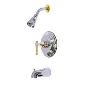 Kingston Brass KB2634ML Milano Tub & Shower Faucet - Polished Chrome With Brass Trim