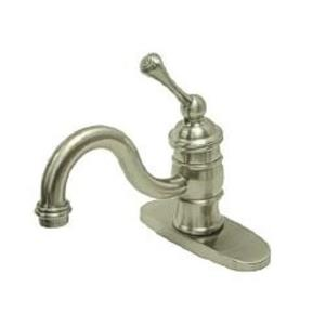 "Kingston Brass KB3408BL Heritage 4"" Centerset Bathroom Sink Faucet - Satin Nickel"