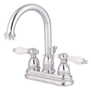 "Kingston Brass KB3611PL Restoration 4"" Centerset Bathroom Sink Faucet - Polished Chrome"