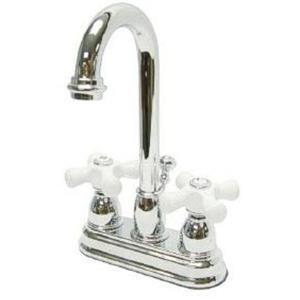 """Kingston Brass KB3611PX Restoration 4"""" Centerset Bathroom Sink Faucet - Polished Chrome"""
