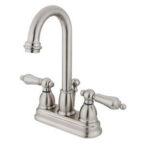 """Kingston Brass KB3618AL Restoration 4"""" Centerset Bathroom Sink Faucet - Satin Nickel"""