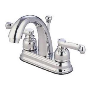 "Kingston Brass KB5611FL Royale 4"" Centerset Bathroom Sink Faucet - Polished Chrome"