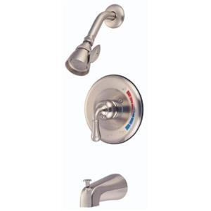 Tub & Shower Diverter Faucet Faucets Satin Nickel KB638