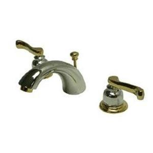 Kingston Brass KB8954FL Royale MiniWidespread Bathroom Sink Faucet - Polished Chrome With Brass Trim