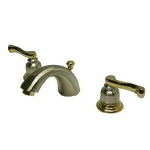 Kingston Brass KB8959FL Royale MiniWidespread Bathroom Sink Faucet - Satin Nickel With Brass Trim