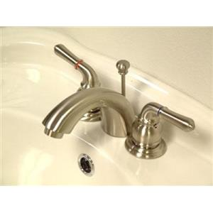 Kingston Bathroom Sink Faucet Satin Nickel KB958