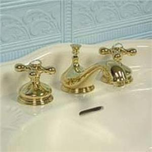 "Kingston Brass KS1162AX Heritage 8"" -16"" Widespread Bathroom Sink Faucet - PVD Polished Brass"