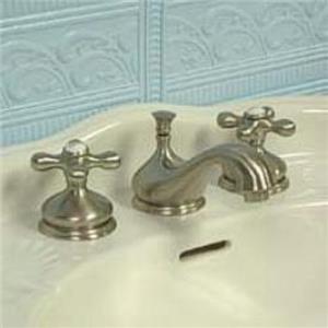 "Kingston Brass KS1168AX Heritage 8"" -16"" Widespread Bathroom Sink Faucet - Satin Nickel"