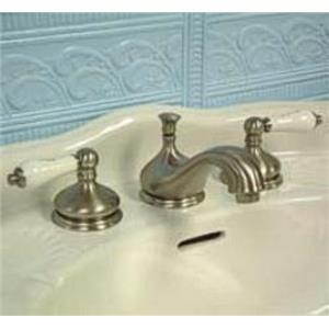 "Kingston Brass KS1168PL Heritage 8"" -16"" Widespread Bathroom Sink Faucet - Satin Nickel"