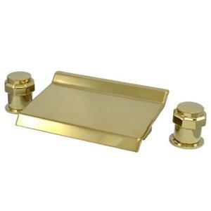 Kingston Brass KS2242AR - Polished Brass Waterfall Roman Tub Filler