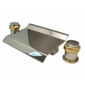 Kingston Brass KS2244AR - Waterfall Roman Tub Filler Chrome With Brass Trim