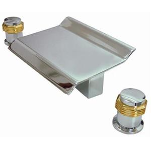 Kingston Brass KS2244MR Roman Tub Filler Chrome With Brass Trim