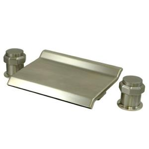 Kingston Brass KS2248AR Waterfall Roman Tub Filler - Satin Nickel