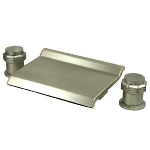 Kingston Brass KS2248MR Waterfall Roman Tub Filler - Satin Nickel