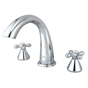 Kingston Brass KS2361AX Roman Tub Filler With Cross Handle - Chrome