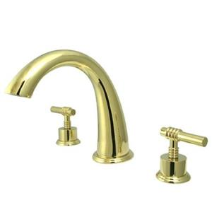 Kingston Brass KS2362ML Milano Roman Tub Filler With Lever Handle - Polished Brass