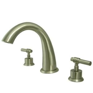 Kingston Brass KS2368ML Milano Roman Tub Filler With Lever Handle - Satin Nickel