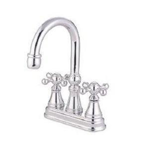 Kingston Brass KS2611KX Governor Classic High Rise Spout Bathroom Sink Faucet - Polished Chrome