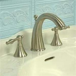 "Kingston Brass KS2978NL Naples 8"" -16"" Widespread Bathroom Sink Faucet - Satin Nickel"