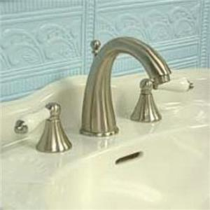 "Kingston Brass KS2978PL Naples 8"" -16"" Widespread Bathroom Sink Faucet - Satin Nickel"