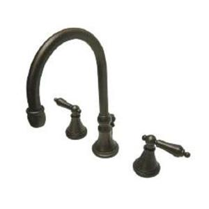"Kingston Brass KS2985AL Governor 8"" Widespread Bathroom Sink Faucet - Oil Rubbed Bronze"