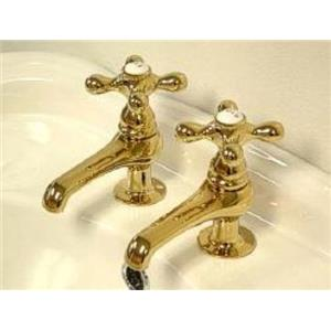 Kingston Brass KS3202AX Restoration Basin Cock Bathroom Sink Faucet - PVD Polished Brass
