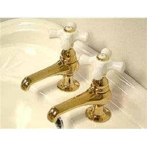 Kingston Brass KS3202PX Restoration Basin Cock Bathroom Sink Faucet - PVD Polished Brass
