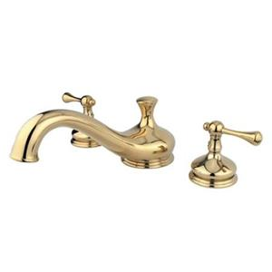 Kingston Brass KS3332BL Vintage Classic Tub Filler With Buckingham Lever Handle - Polished Brass
