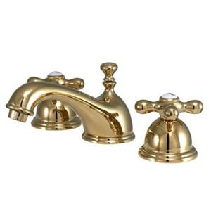 "Kingston Brass Polished Brass 8""-16"" Widespread Lavatory Faucet - KS3962AX"