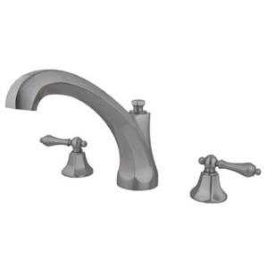 Kingston Brass KS4328AL Metropolitan Roman Tub Filler With Lever Handle - Satin Nickel