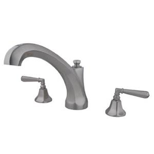 Kingston Brass KS4328HL Metropolitan Roman Tub Filler With Lever Handle - Satin Nickel