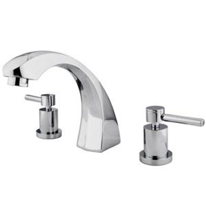Kingston Brass KS4361DL Concord Roman Tub Filler, Polished Chrome