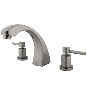 Kingston Brass KS4368DL Roman Tub Filler With Lever Handle - Satin Nickel