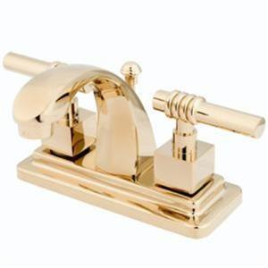 Kingston Bathroom Sink Faucet Polished Brass KS4642Ql