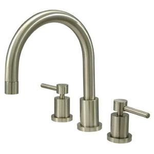 Kingston Brass KS8328DL Concord Roman Tub Filler With Lever Handle - Satin Nickel