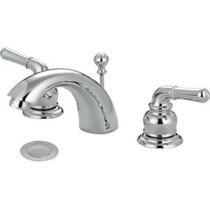 "Olympia Faucets LEAD FREE 4""-16"" WideSpread Bathroom Lavatory Sink Faucet - Polished Chrome Finish"