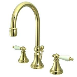 "Kingston Brass KS2982PL Governor 8"" Widespread Bathroom Sink Faucet - PVD Polished Brass"