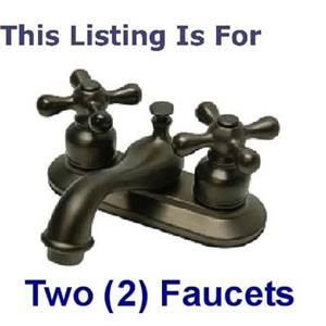"2 - Kingston Brass KB605AX Victorian 4"" Centerset Bathroom Sink Faucet - Oil Rubbed Bronze"