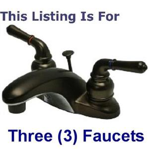 "3 - Kingston Brass KB625 Magellan  4"" Centerset Bathroom Sink Faucet - Oil Rubbed Bronze"