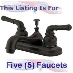 "Kingston Brass KB605NML Magellan 4"" Centerset Bathroom Sink Faucet - Oil Rubbed Bronze - 1 Lot Of 5"
