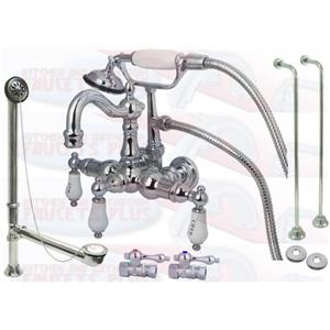 Kingston Brass CCK1010T1 Chrome Clawfoot Tub Faucet Kit