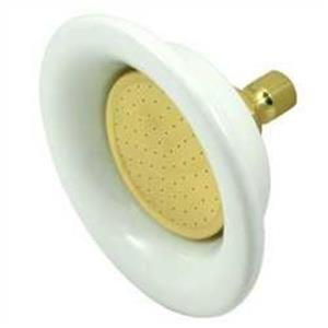 Kingston Brass Model# P60PB Victorian Sunflower Ceramic And Brass Shower Head - Polished Brass
