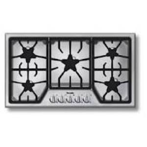 "Thermador MasterPiece Series 36"" 5 Star Burners SS Natural Gas Cooktop SGS365FS"
